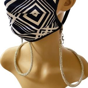 Accessories - Handmade AB Rhinestone Double Clip FaceMask Holder